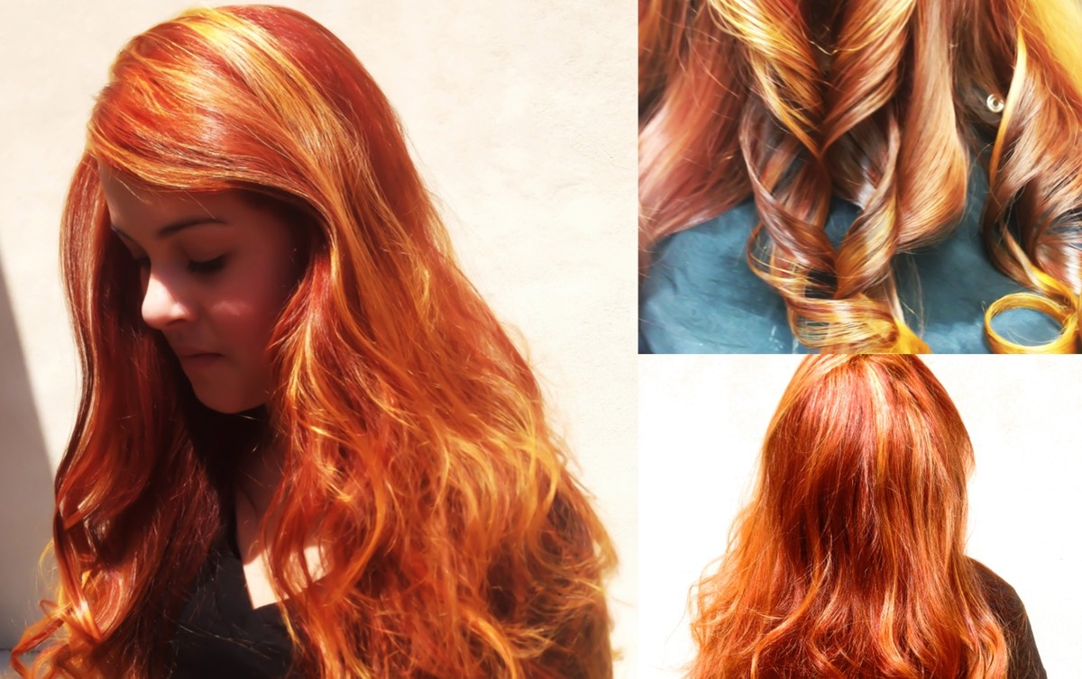 Copper Orange And Yellow Hair Painting Colour Wand